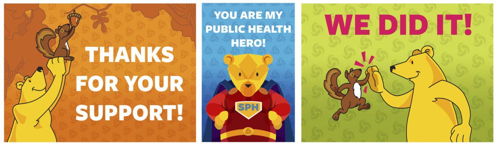 Berkeley Public Health staff appreciation postcards