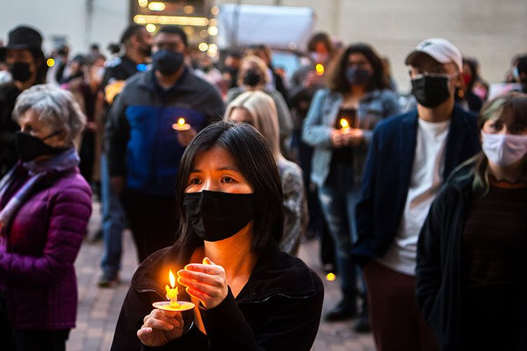Anti-Asian racism candlelight vigil